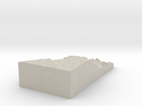Model of Zuni Point in Natural Sandstone
