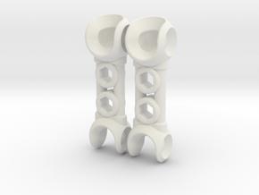 NEW! ModiBot Mech Xtendr ForeArm Set in White Strong & Flexible