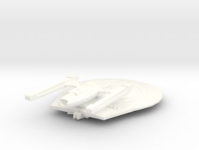USS Leto (Diaxo Class) in White Strong & Flexible Polished