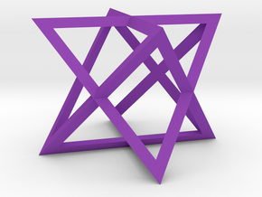 2 tetraeder in Purple Strong & Flexible Polished