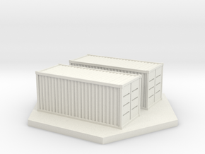 Shipping Containers (1/285th 6mm Scale) in White Strong & Flexible