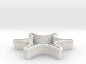 Shapeways Spark in White Natural Versatile Plastic