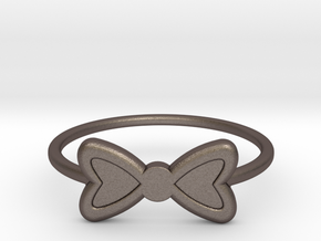 Knuckle Bow Ring, 15mm diameter by CURIO in Polished Bronzed Silver Steel
