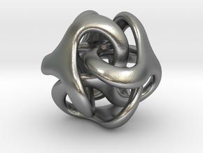 Trilio - Dadi - 20mm pendant in Natural Silver