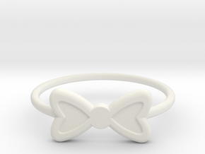 Knuckle Bow Ring, 15mm diameter by CURIO in White Natural Versatile Plastic