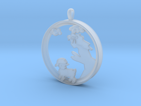 """Children's Wall Charm """"Mary Had A Little Lamb"""" in Smooth Fine Detail Plastic"""