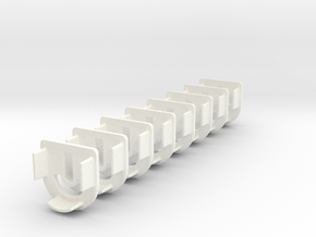 Wing Joiner (Dhook) (x8) in White Processed Versatile Plastic