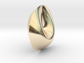 Cross Cap Non-Orientable Surface in 14K Yellow Gold