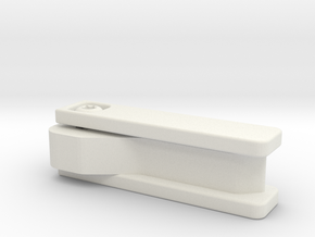 Discrete Key Holder in White Natural Versatile Plastic
