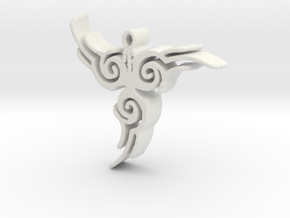 Tribal Pendant in White Strong & Flexible