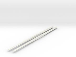 Shapeways Twistedsticks 140mm Long in White Natural Versatile Plastic