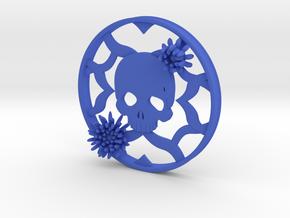 Chrysanthemum Skull Plugs 4 1/2 Inch gauge Right in Blue Processed Versatile Plastic