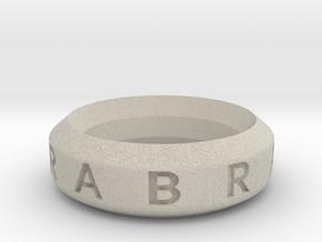 Abracadabra Ring in Natural Sandstone