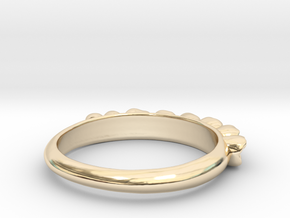 Molar Teeth Ring Size 6 in 14K Yellow Gold