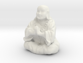 Buddha Statue in White Natural Versatile Plastic