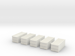 "1/600 20"" Container Stack (x5) in White Strong & Flexible"