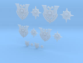 Compass Skull - 12 Icons Various Size in Frosted Ultra Detail