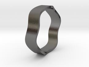 Sine Ring Flat 18mm in Polished Nickel Steel
