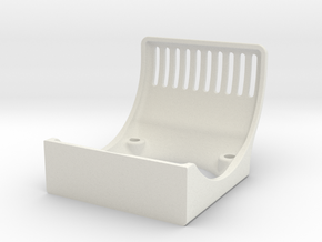30mm Fan Shroud in White Natural Versatile Plastic