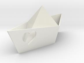 Love Boat in White Natural Versatile Plastic