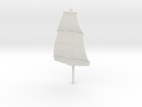 First Rate Foremast, 1:1000 Scale in White Natural Versatile Plastic