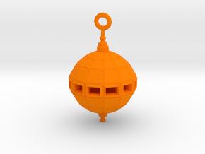 Grenade Bomb Pendant synthetic in Orange Processed Versatile Plastic