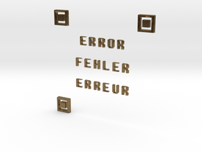ERROR FEHLER ERREUR QR CODE in Natural Bronze