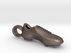 Soccer shoe in Polished Bronzed Silver Steel