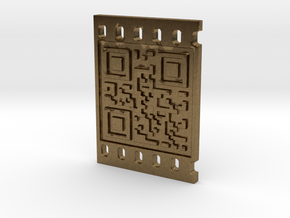OCCUPY NEW YORK QR CODE 3D 30mm in Natural Bronze