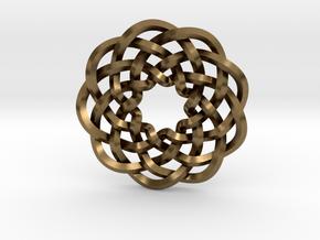 Woven Starburst Pendant in Raw Bronze