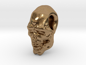 FridayThe13thPainted Joker Skull in Natural Brass
