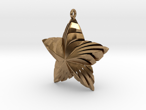 Tortuous Star Pendant in Natural Brass