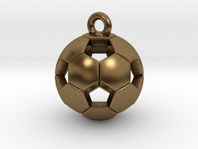 Soccer Ball Pendant in Raw Bronze
