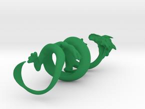 Oriental Dragon Gripper 22mm in Green Processed Versatile Plastic