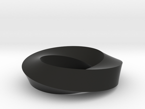 Mobius Loop - Square 2/4 twist in Black Strong & Flexible