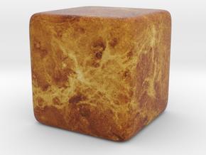 Cube Planet : Venus, 1inch in Full Color Sandstone