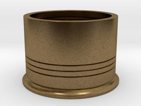 Shotshotglass Base in Natural Bronze