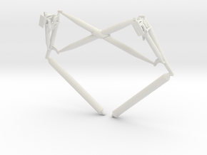 Lunar Module Landing Gear Cross Brace in White Natural Versatile Plastic