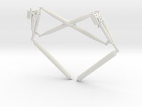 Lunar Module Landing Gear Cross Brace in White Natural Versatile Plastic