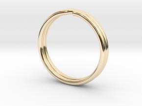 One Inch Keychain in 14K Gold