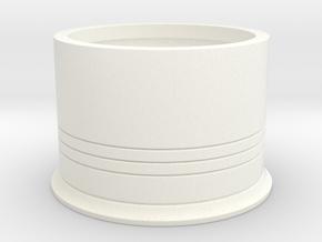 Shotshotglass Base in White Processed Versatile Plastic