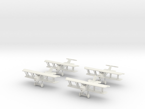 1/144 Pfalz D.XII (late) x4 in White Natural Versatile Plastic