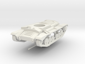 Vehicle- Valentine Tank MkIII (1/87th) in White Natural Versatile Plastic