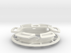 Gear Cage in White Natural Versatile Plastic