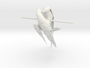 Macaw & Parrot in White Natural Versatile Plastic