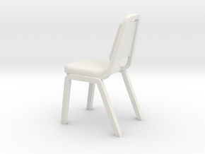 1:24 Pointed Dining Chair (Not Full Size) in White Strong & Flexible