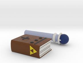 Zelda Fan Art: TLoZ: Magic Book And Rod in Full Color Sandstone