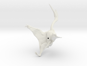 Quetzalcoatlus 1:72 scale model in White Natural Versatile Plastic