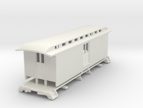 HOn3 30ft Baggage Car C in White Natural Versatile Plastic