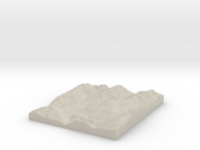 Model of Banyard in Natural Sandstone